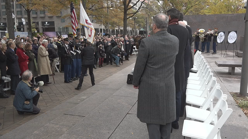 Military, government leaders break ground on WWI Memorial in D.C. (ABC7)