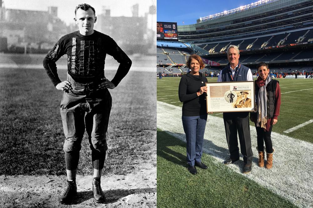 National Football League teams honor World War I veterans - World War I  Centennial c80b4bdfa