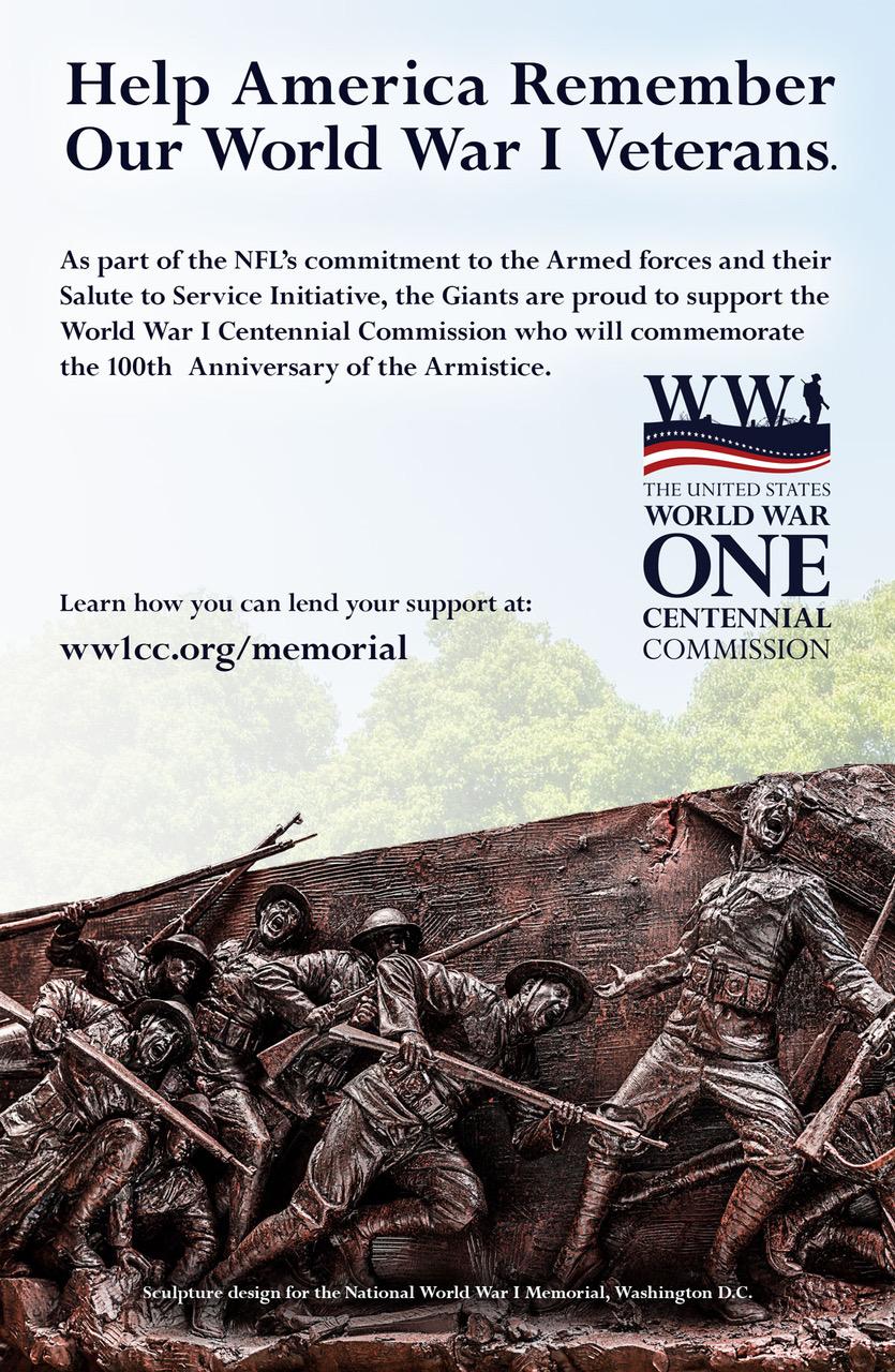 National Football League teams honor World War I veterans - World ... 95f26a1f8