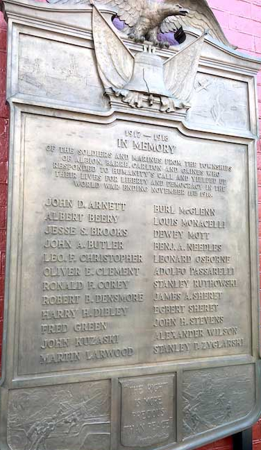 World War I memorial rededicated at County Courthouse - World War I ...