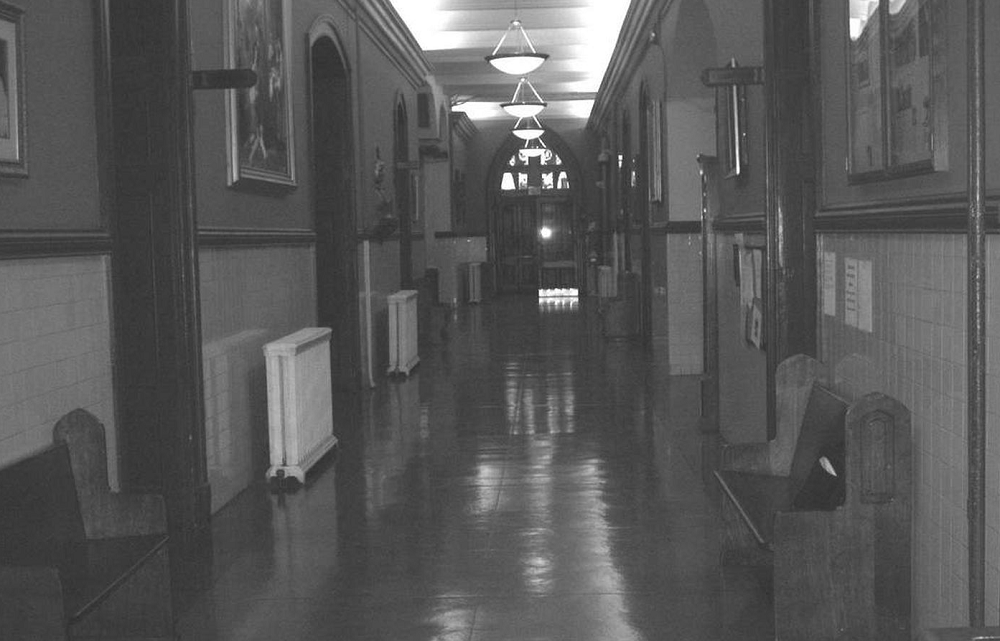 Roman High School hallway