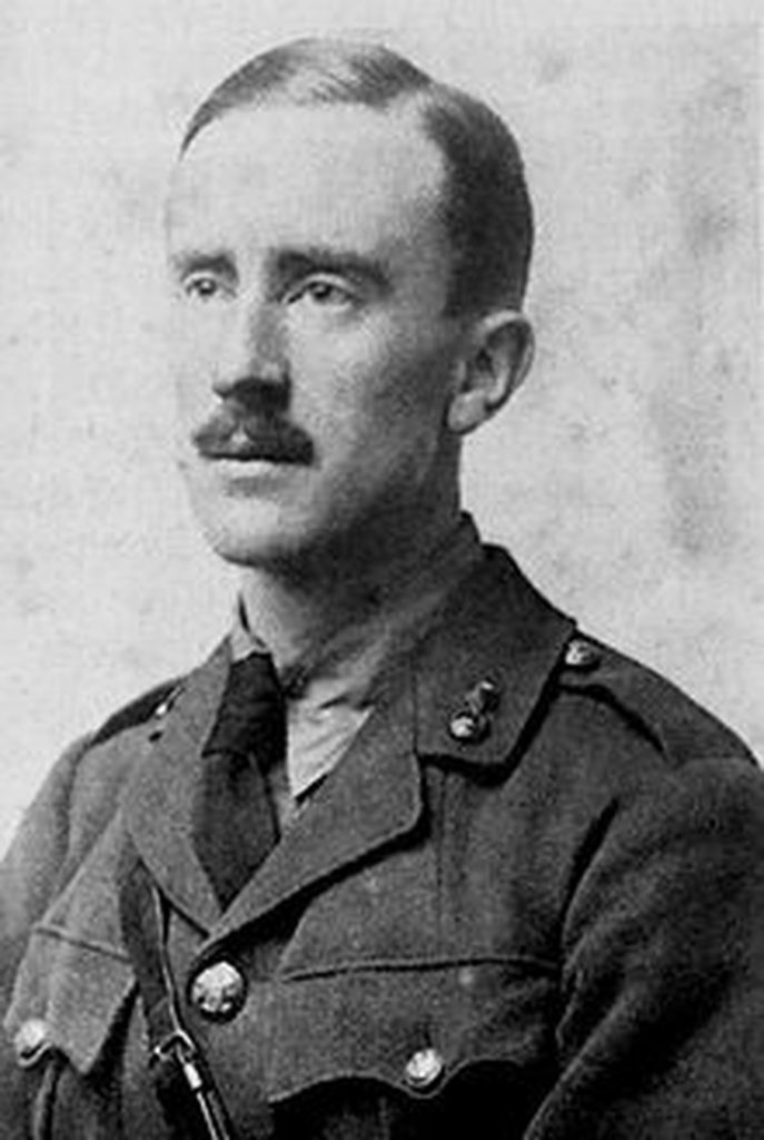 JRR Tolkien in WWI uniform