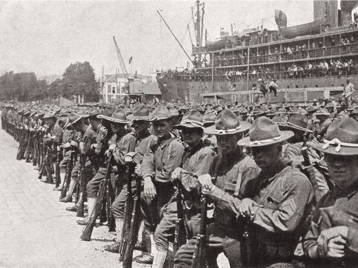 Image result for american soldiers ww1