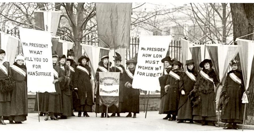 National Womans Party Protests Outside White House During World War I