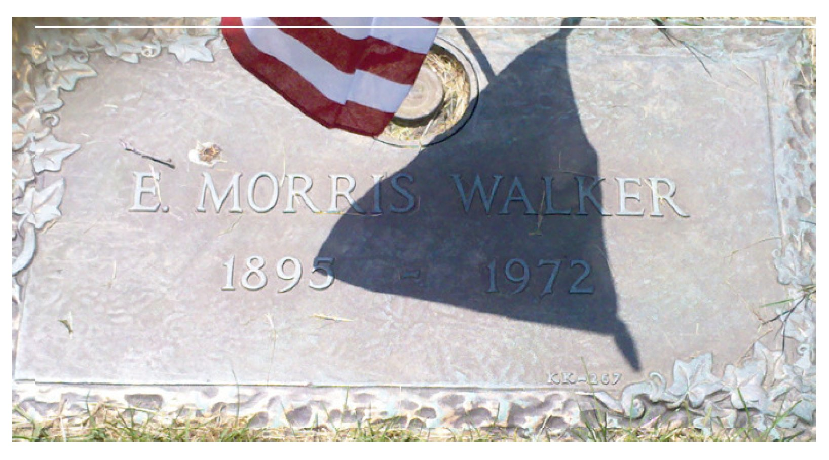 memorial marker Edward Morris Walker2