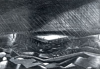 Rain Lake Zillebeke Paul Nash
