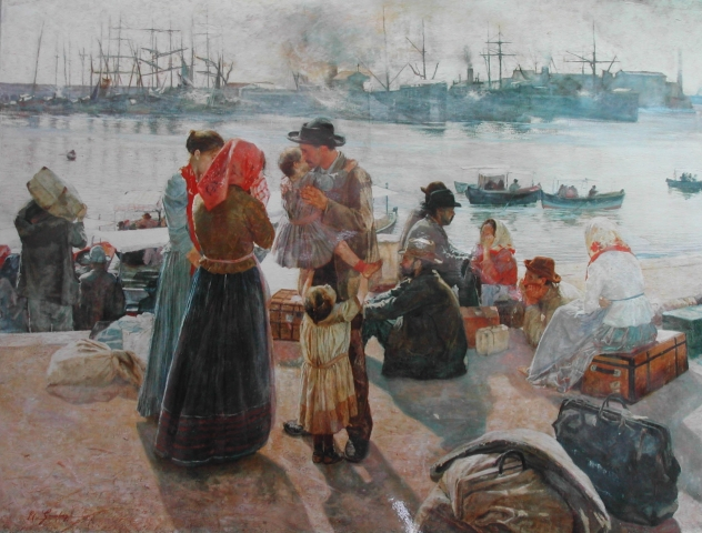 Raffaello Gambogi The Immigrants 1894
