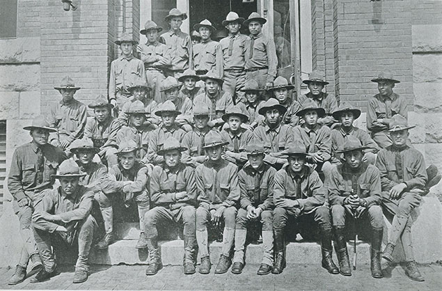 Former Haskell Students in uniform, 1918