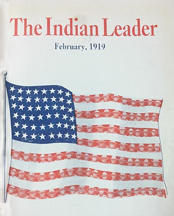 Front cover of Haskell's Indian Leader, February 1919
