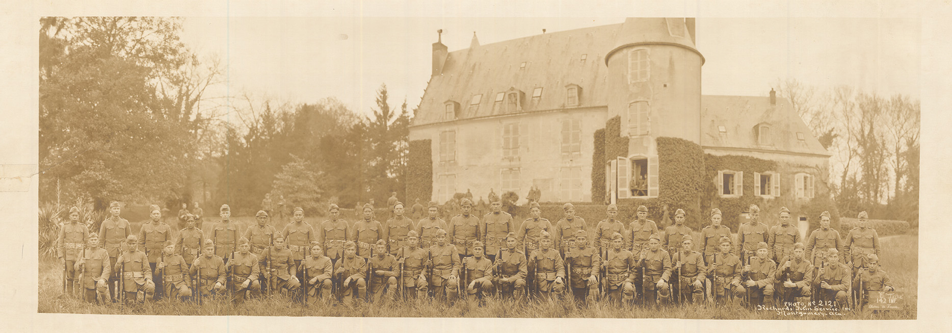 36 Division 142 Infantry Company E in France