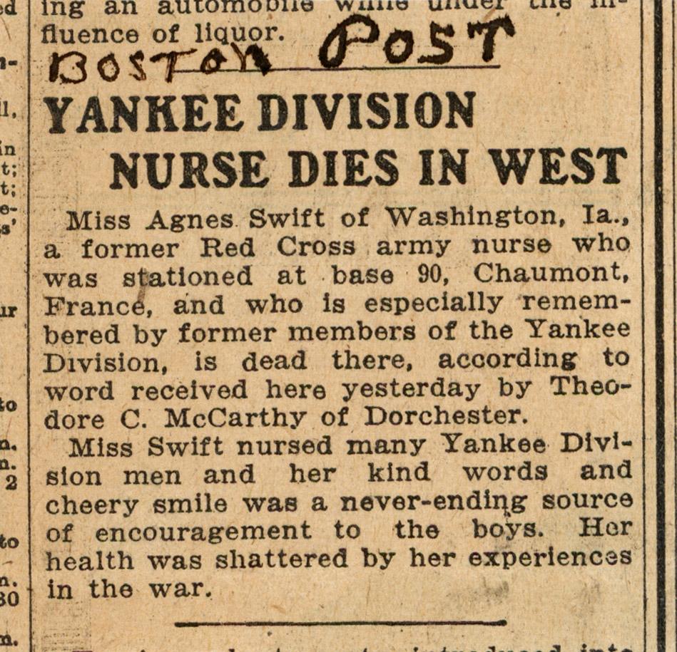 Nurses We Remember - World War I Centennial