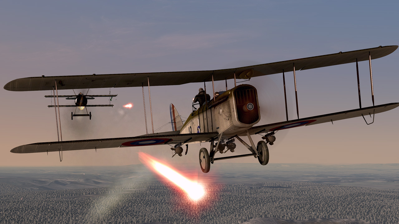 DH4 under attack