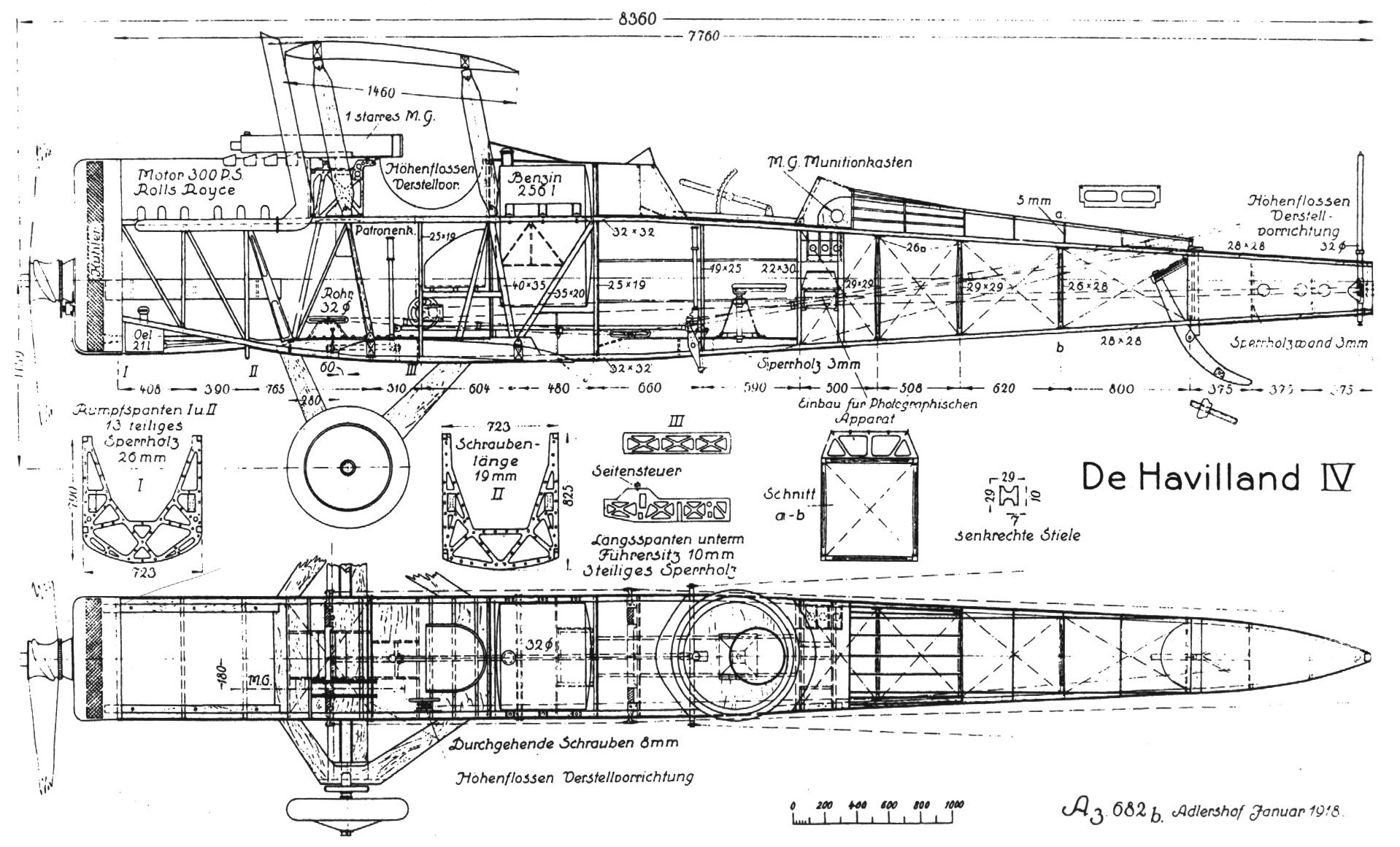 Dh4 Technical Specifications World War I Centennial Wwi Trench Diagram Dehavilland 4 Fuselage Structure