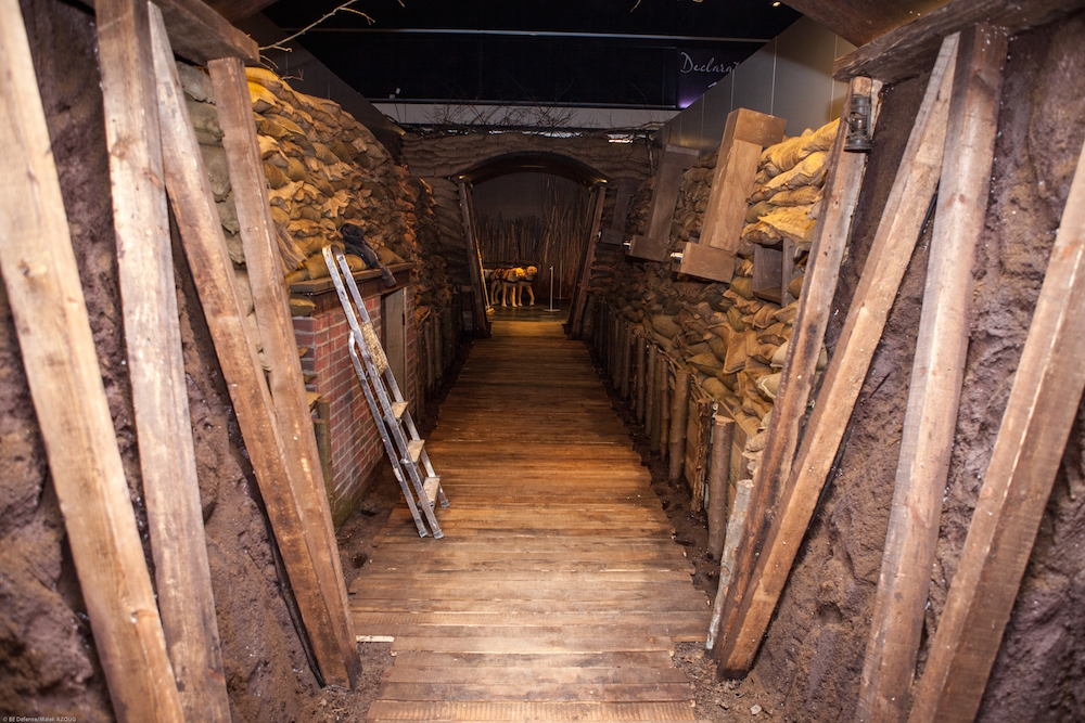 A recreated trench for the Belgian World War I exhibition coming to the Atlanta History Center in March.