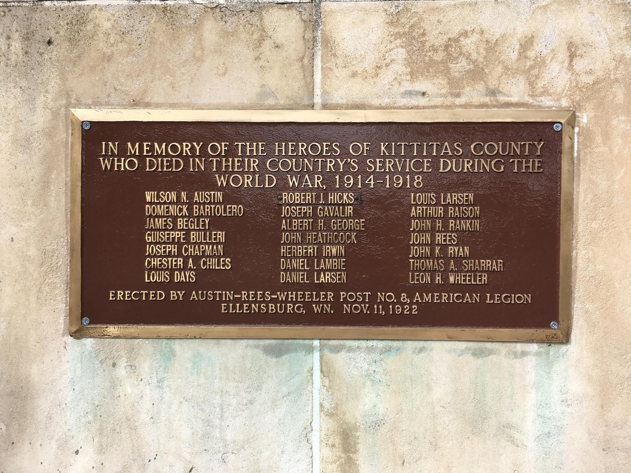 Memorials - World War I Centennial - Results from #625