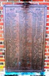 WWI Memorial Honor Roll - Point Pleasant