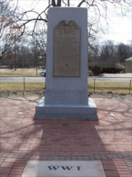 WW I Memorial - Veterans Memorial Plaza