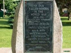 Hartford Ely Park WW1 Memorial
