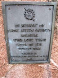 Aitkin County WW1 Memorial