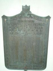 Hayfield American Legion Plaque