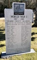 Elmore County WWI Memorial