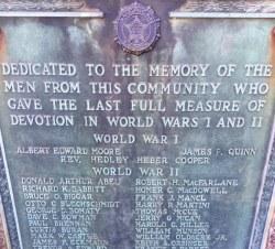 Guthrie Park Gold Star Memorial