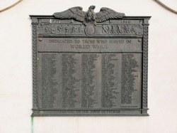 World War Memorial Plaques