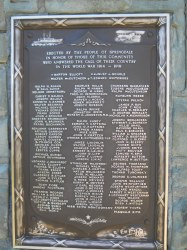 Springdale Veterans Memorial WWI Honor Roll Plaque