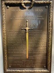 Loudon County World War I Memorial Plaque