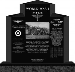 Monument to WWI U.S. Airmen