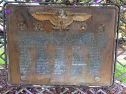 WWI & WWII Veterans Bronze Plaque