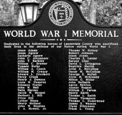 Florence WW1 Memorial