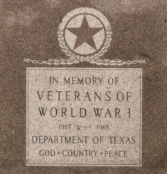 Texas State Capitol World War I Monument
