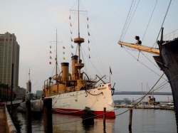Cruiser Olympia at Independence Seaport Museum, Philadelphia, Pennsylvania