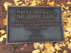 "Moina Michael – ""The Poppy Lady"" Marker"