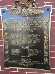 Coweta Co. - Newnan - WW1 Memorial Plaque