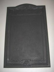 Trinity Lutheran Church World War Honor Roll Plaque