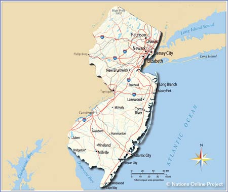New Jersey map edited
