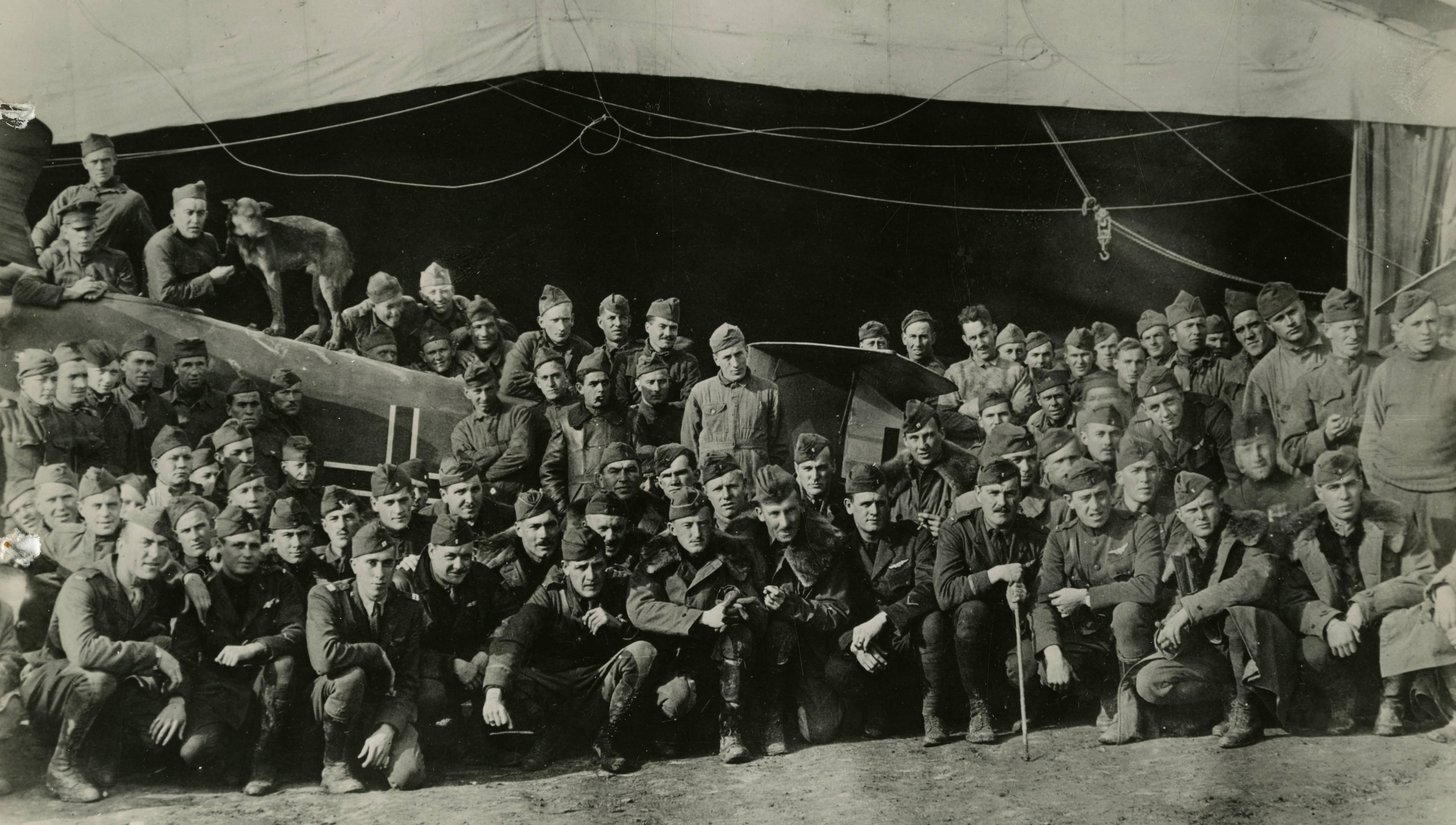WWI World War One I Eddie Rickenbacker Photo In His Spad 94th Aero Squadron