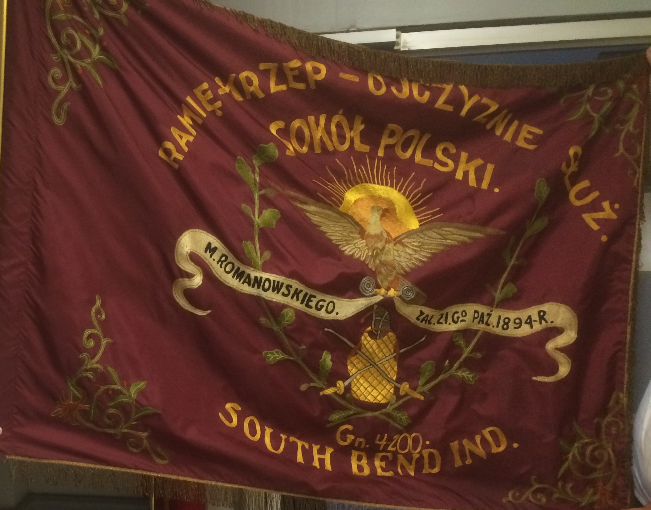 1894 S Bend Falcons Flag