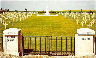 entrance The Polish military cemetery of Aubrive the Marne