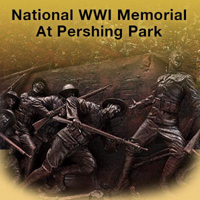 American WWI Memorial at Pershing Park in Washington DC