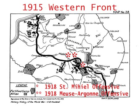 map of western front