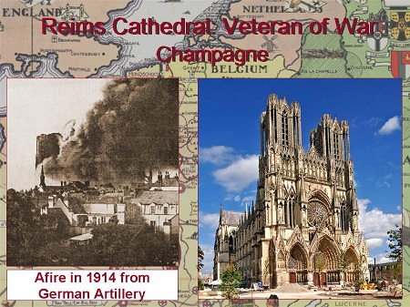 Rheims Cathedral--Then and Now