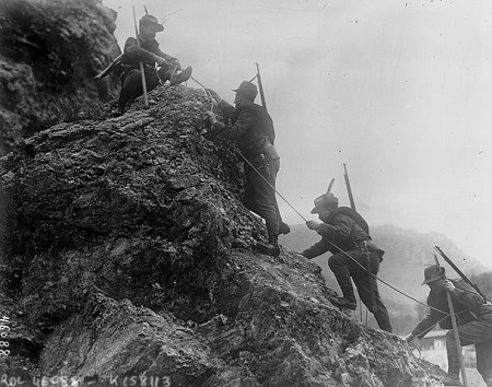 Italian Alpine troops, 1915