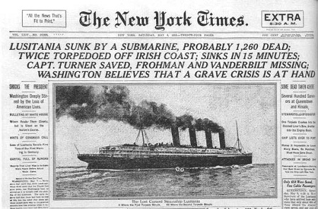 Lusitania NY Times Article