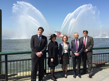 Diplomats, dignitaries and Commissioners at the NYC Lusitania Wreath Laying Ceremony