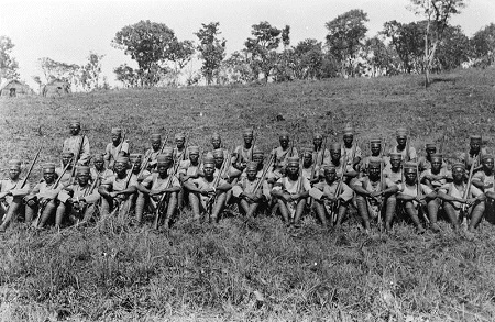 King's African Rifles in East Africa, circa Sept 1917