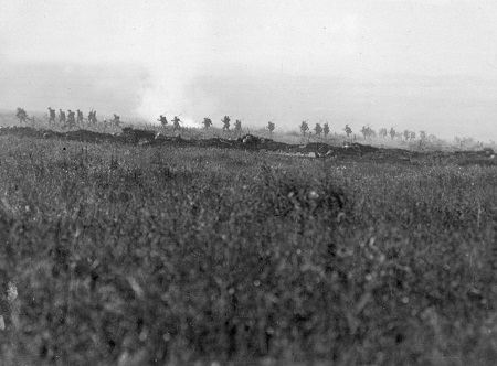 The 103rd Brigade advancing at La Boisselle, circa 1 July 1916