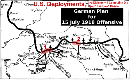 Map of the German Plan for their July 1918 Offensive